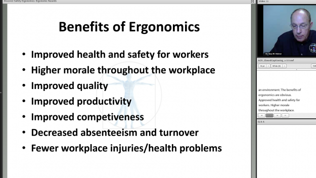 Screenshot of Discover Safety Ergonomics