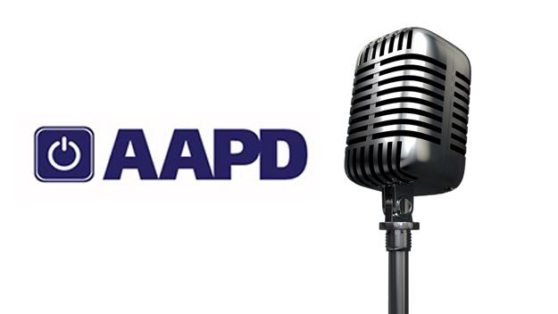 AAPD logo with microphone