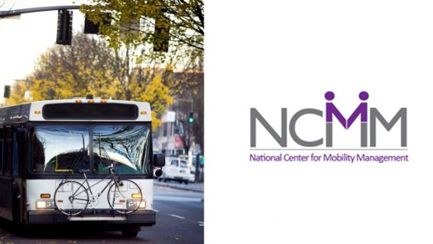 Photo of a bus in a city with NCMM logo