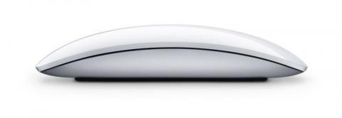 Photo of a flat, sleek mouse for Apple computers